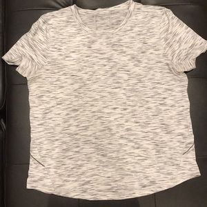 Lululemon Tee, Heathered grey/white, size 8